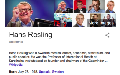 Hans Rosling is dead, but his brilliant speeches will live for ever.