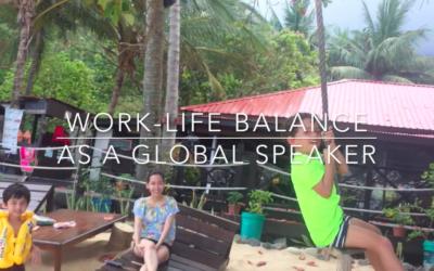 Work-Life-Balance as a global, keynote speaker.