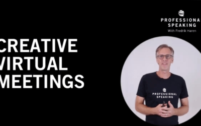 Creative Virtual Meetings. (Professional Speaking. Episode 303)